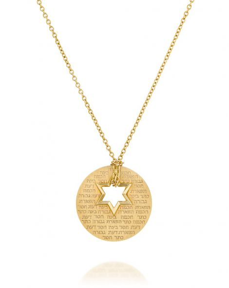 Star Of David Mini Necklace