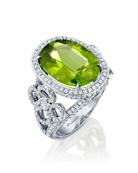 Violetto  Contour Peridot Ring
