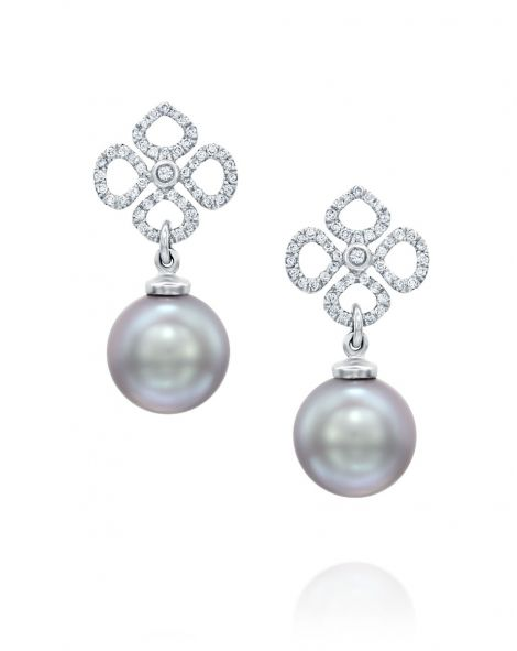 Violetto Grey Pearl Earrings