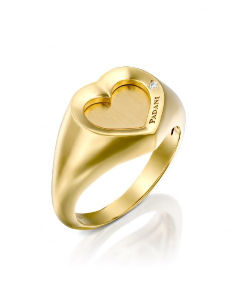 Signet Heart Ring