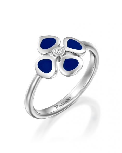 Violetto Blue Enamel Ring