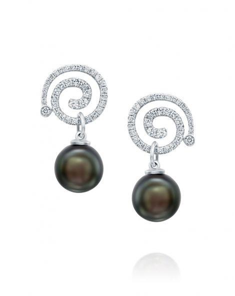Nautilus Grey Pearl Earrings