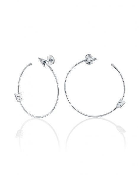 Flow Round Arrow Hoop Earrings