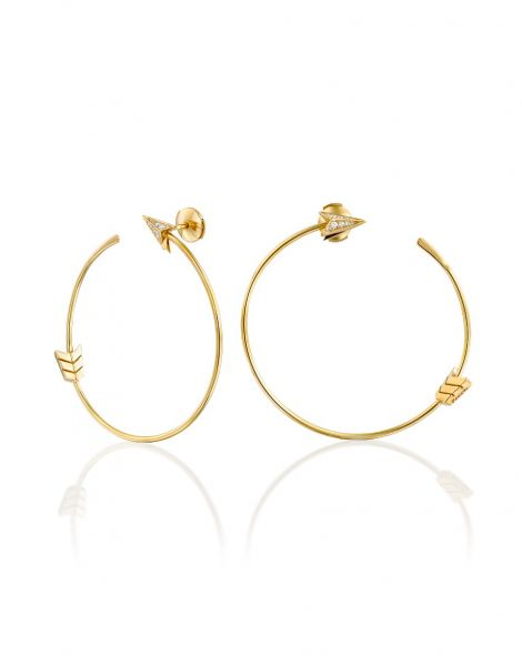 Flow Round Arrow Hoop Earrings
