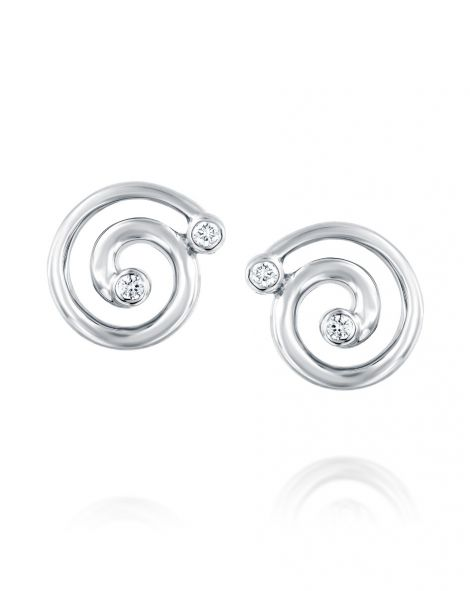 Nautilus Big Spiral Earrings
