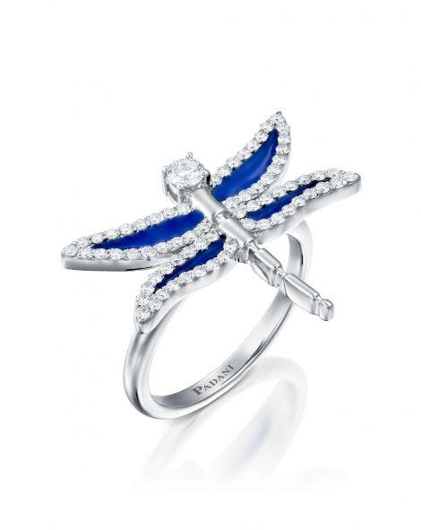 Dragonfly Enamel Ring