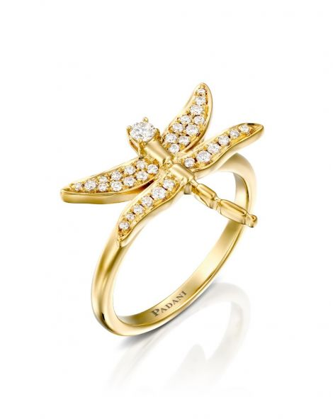 Dragonfly Diamonds Ring