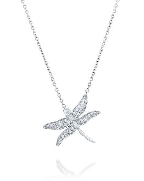 Dragonfly Diamonds Necklace