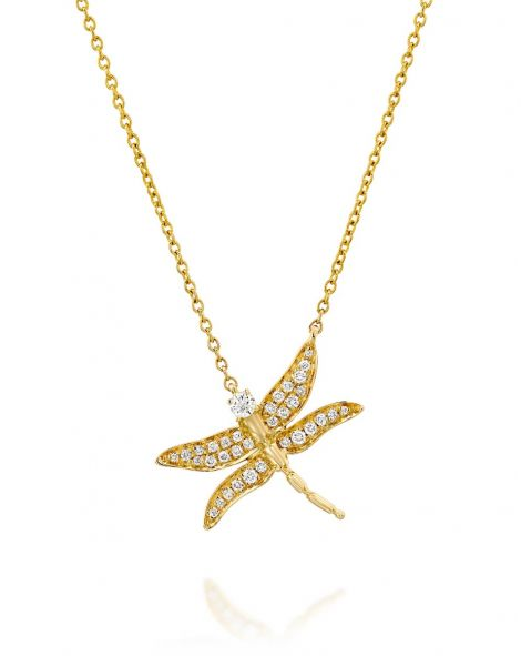 Dragonfly Diamonds Necklace