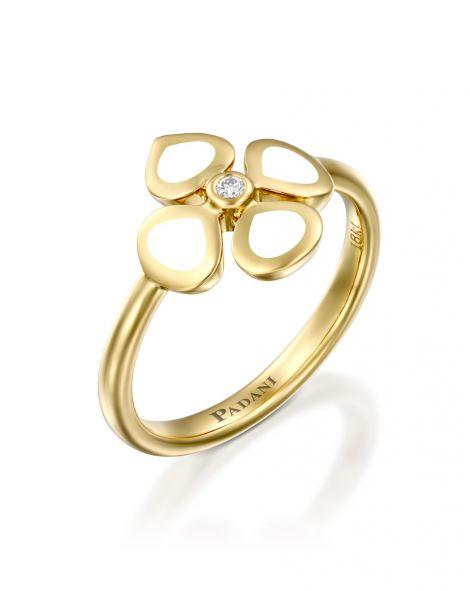 Violetto White Enamel Ring