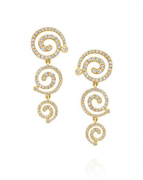 Nautilus 3 Spirals Earrings