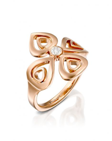 Double Violetto Contour Ring