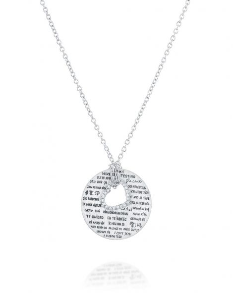 Love Necklace Diamonds Heart
