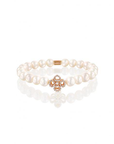 Violetto Contour Pearls Bracelet