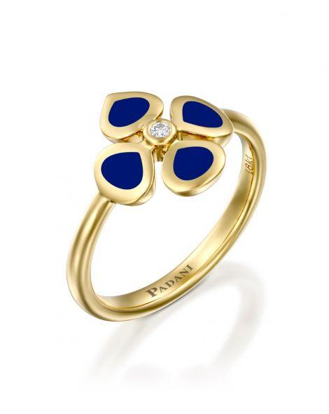 Violetto Blue Enamel Ring