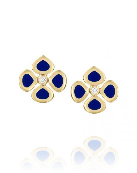 Violetto Blue Enamel Earrings