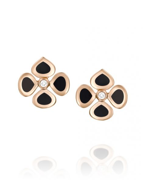 Violetto Black Enamel Earrings