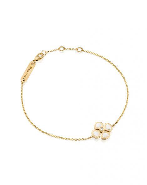 Violetto Flower White Enamel Bracelet