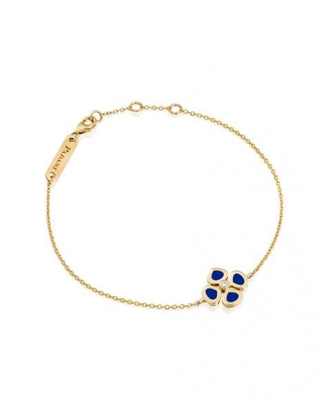 Violetto Flower Blue Enamel Bracelet