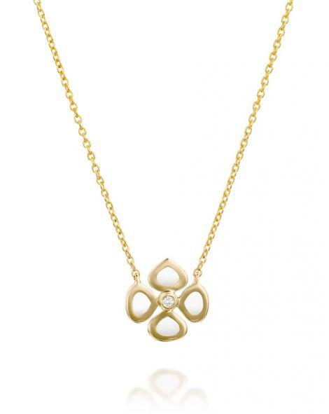 Violetto White Enamel Necklace
