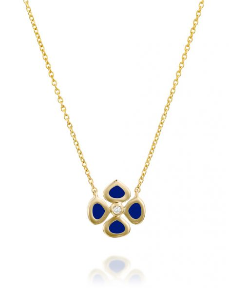 Violetto Blue Enamel Necklace