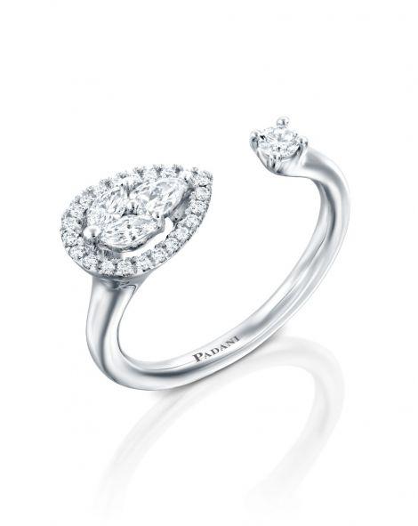 Malvene Across Leaf & Diamond Ring