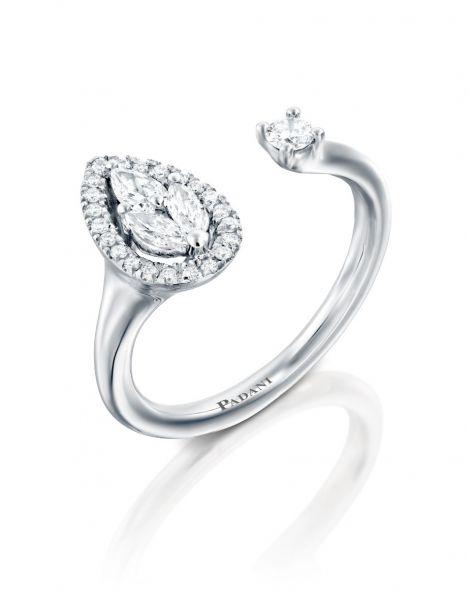 Malvene Leaf & Diamond Ring