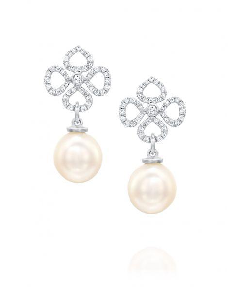 Violetto White Pearl & Diamonds