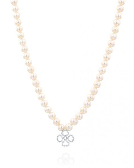 Violetto Contour Pearls Necklace
