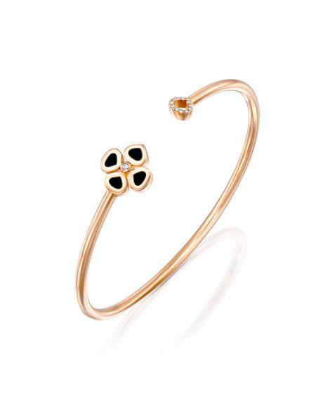 Violetto Enamel Open Bracelet