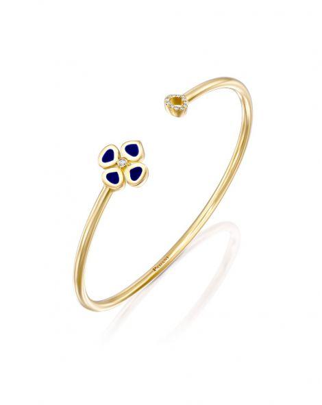 Violetto Blue Enamel Open Bracelet