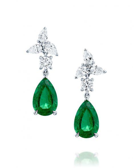 One Of a Kind Emerald Drop Earrings