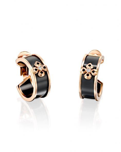 Violetto Ceramic Hoop Earrings