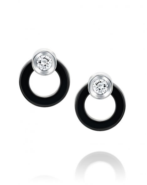 Ceramic Circle Earrings