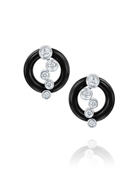 Ceramic Diamond Earrings