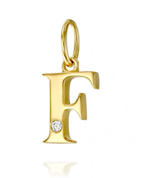 Letter F Mini Pendant