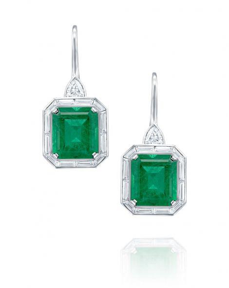 One Of a Kind Emerald Earrings