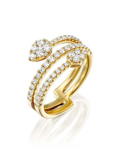 Jovane Two Drops Ring