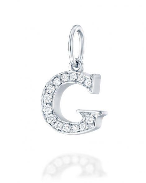 Letter G Diamond Pendant