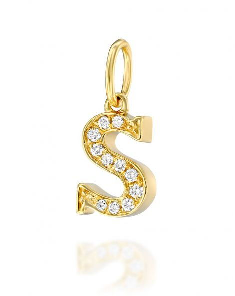 Letter S Diamond Pendant