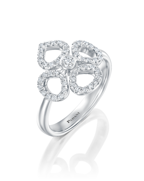 Violetto Contour Ring