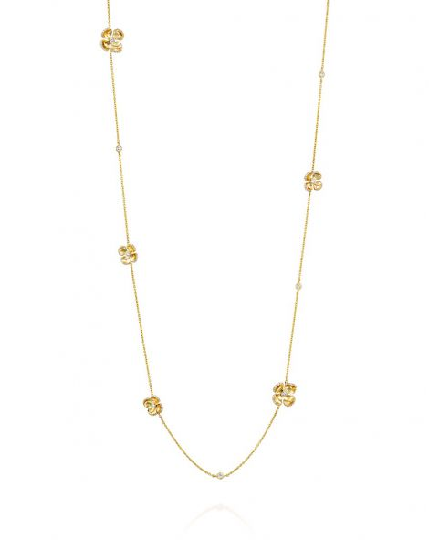 Violetto Shine Sautoir Necklace