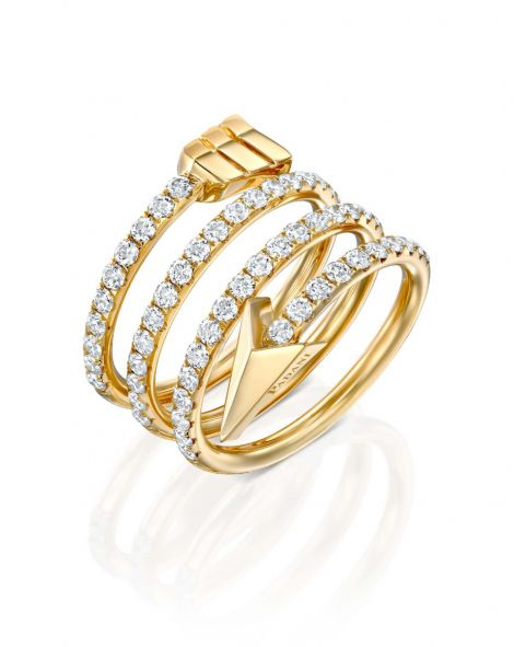 Flow Spiral Arrow Ring