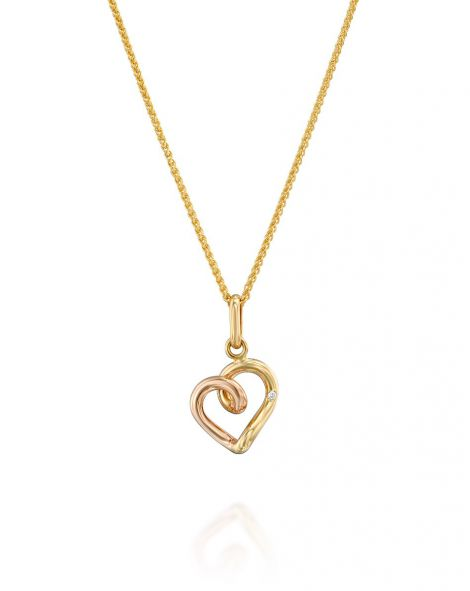 Gold By Padani Heart Necklace