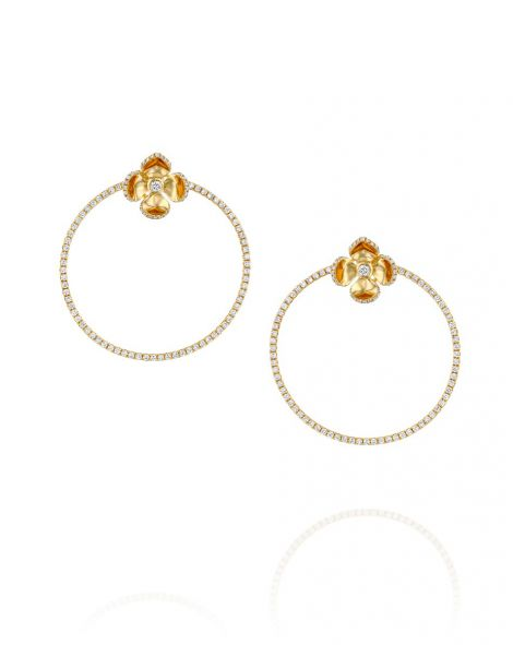 Violetto Shine Hoop Earrings