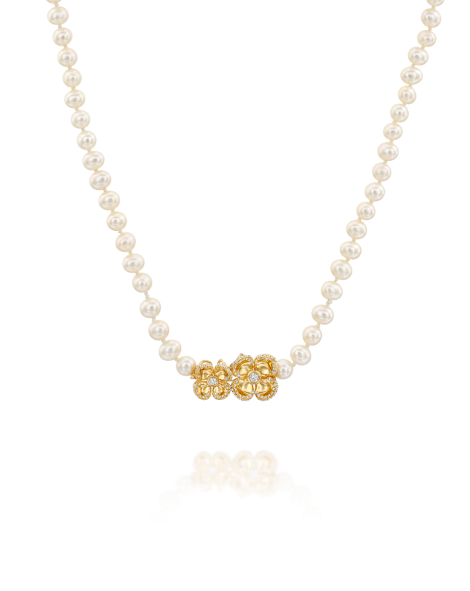 Violetto Shine Pearls Necklace