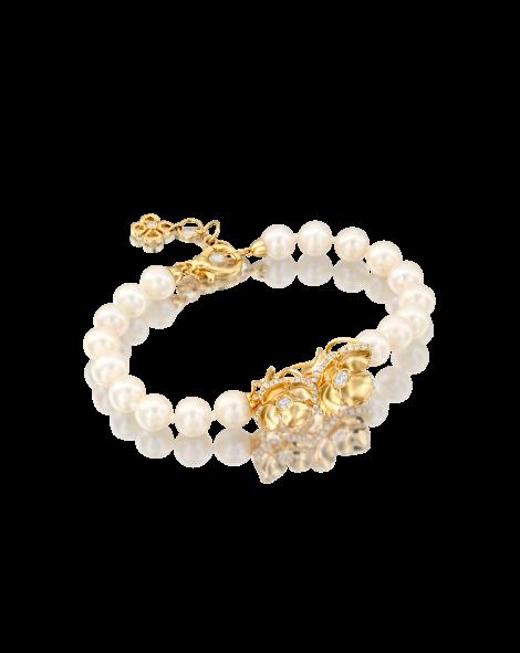 Violetto Shine Pearls Bracelet