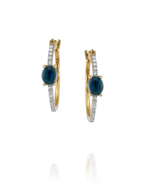Nanis Blue Topaz Hoop Earrings