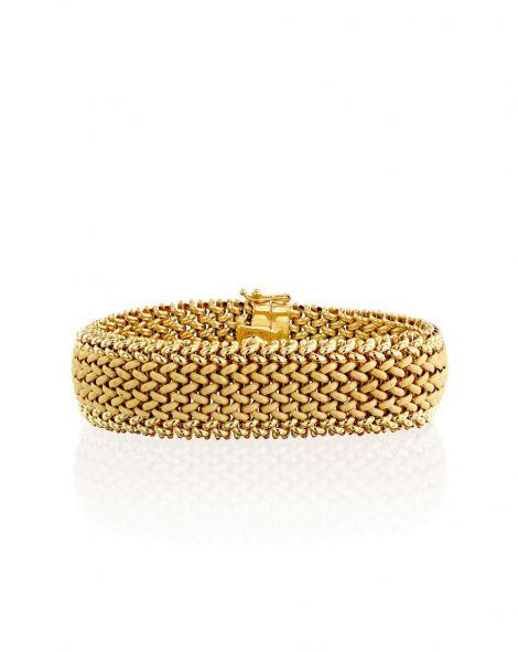 Gold By Padani Braided Bracelet