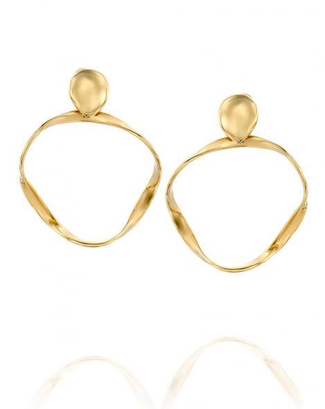 Gold By Padani Asymmetric Hoop Earrings
